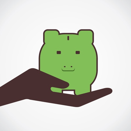 money save in piggy concept vector