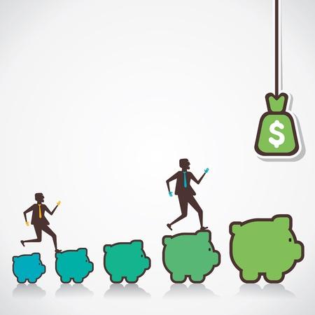more money: make more money concept vector Illustration