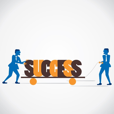 men shift success word vector Stock Vector - 21197290