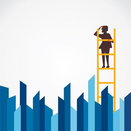 rung: men on ladder find vector