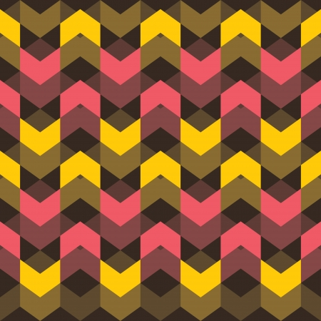 yellow and pink wave pattern background vector Vector