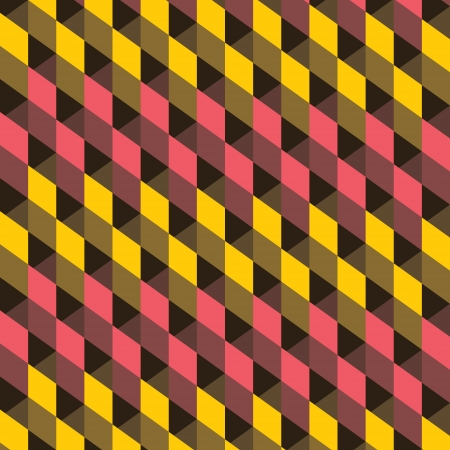 yellow and pink square pattern background vector Vector