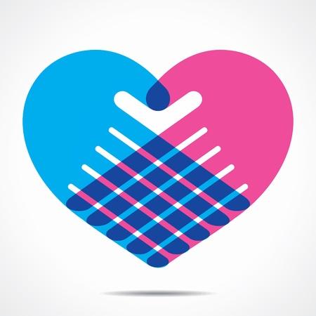 work heart: heart shape design for hand