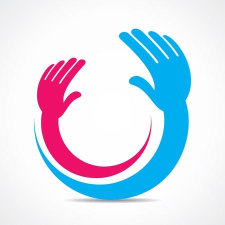 creative hand icon or symbol concept  Vector