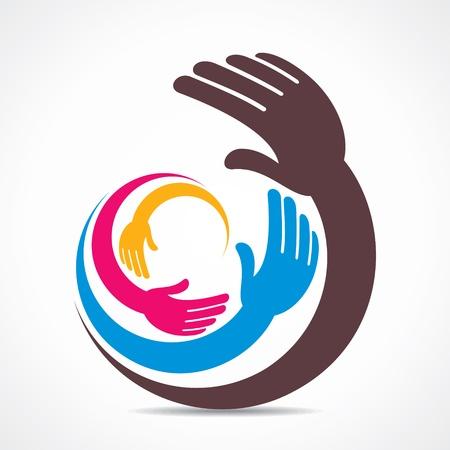 creative hand icon design Фото со стока - 21695177