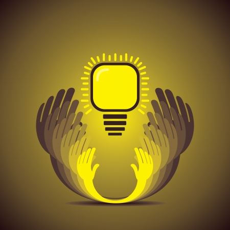 originalidad: ahorrar concepto de energ?a Vectores
