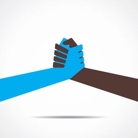 join hand or hand shake Illustration