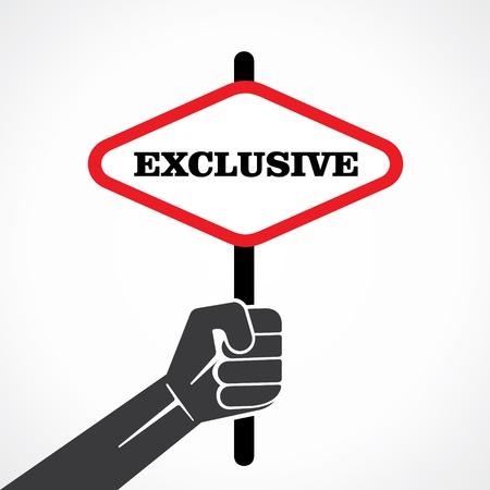exclusive word banner hold in hand stock vector Stock Vector - 22097774
