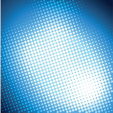 white halftone in blue background vector