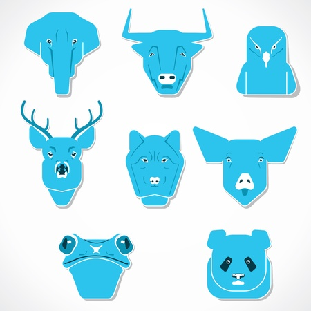 creative face of animals stock vector Vector