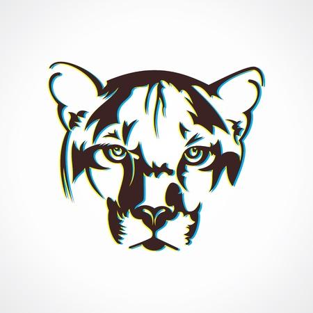 creative tiger face design stock vector Vector