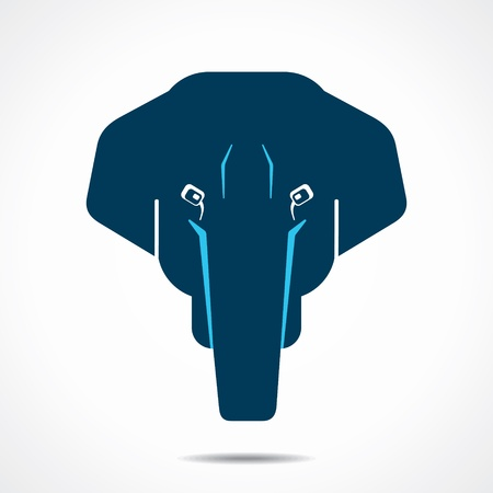 creative elephant face stock vector