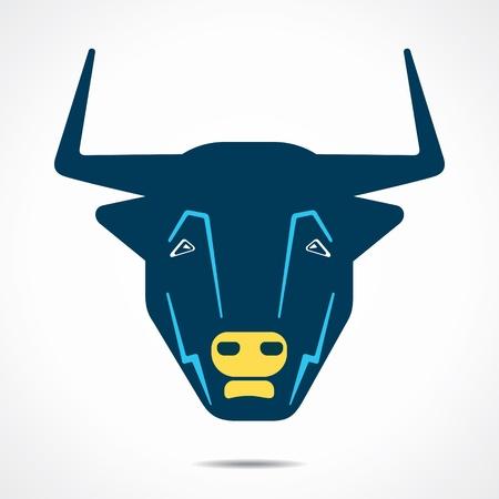 abstract bull face stock vector Vector