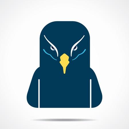 creative eagle face stock vector