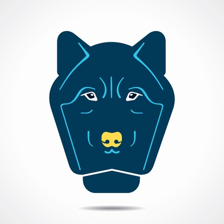 intense: abstract wolf face stock vector