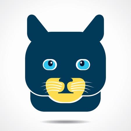 cat creative face stock vector Vector