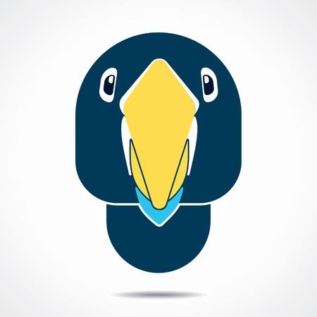 perching: creative parrot face stock vector