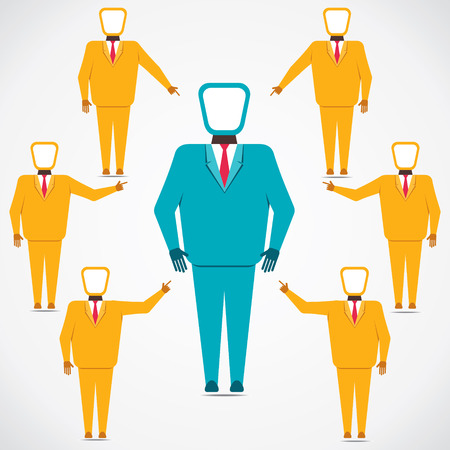 support every people to leader vector Stock Vector - 22566951