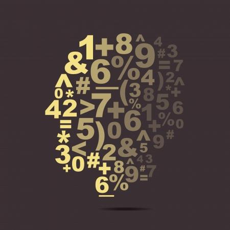 converse: abstrakte Zahl, Zeichen und Symbol Vektor-Gesicht Illustration