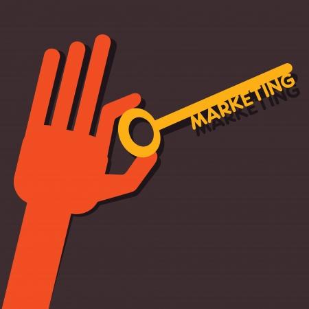 Marketing key in hand stock vector  Stock Vector - 22567069