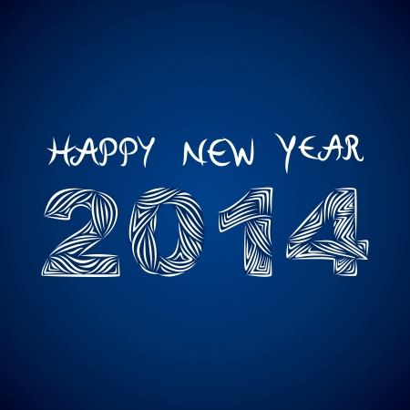 creative happy new year 2014 background vector Illustration
