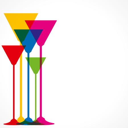 helados con palito: vino de colores de fondo vector de cristal Vectores