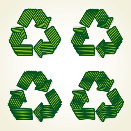 recycle symbol vector: abstract recycle symbol vector Illustration
