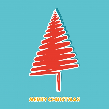 abstract christmas tree vector Vector