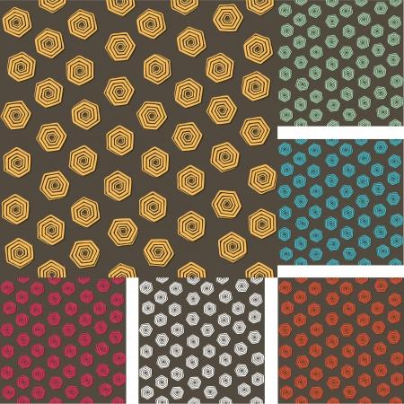 creative colorful swirl hexagonal design background vector Stock Vector - 23234771