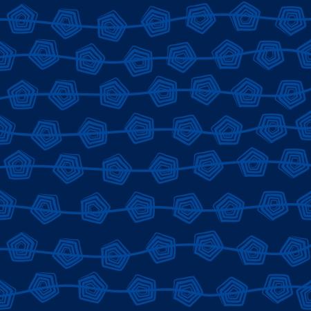 pentagonal: blue pentagonal design pattern background vector Illustration