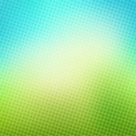 파란색과 녹색 배경 벡터 크리 에이 티브 하프 톤 일러스트