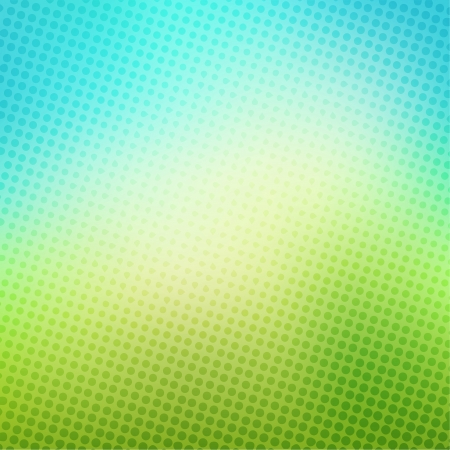 creative halftone in blue and green background vector