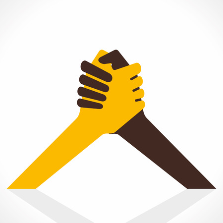 unity: handshake or support icon vector