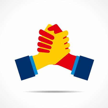 handdruk of ondersteuning pictogram vector