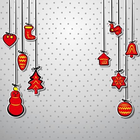 creative christmas background vector Vector