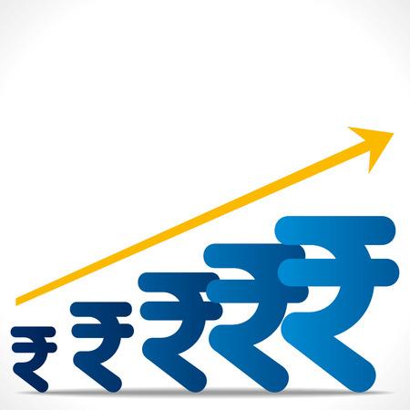 rupee: increase rupee graph background vector
