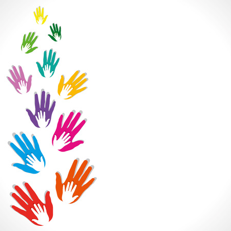 colorful hand background vector Vector