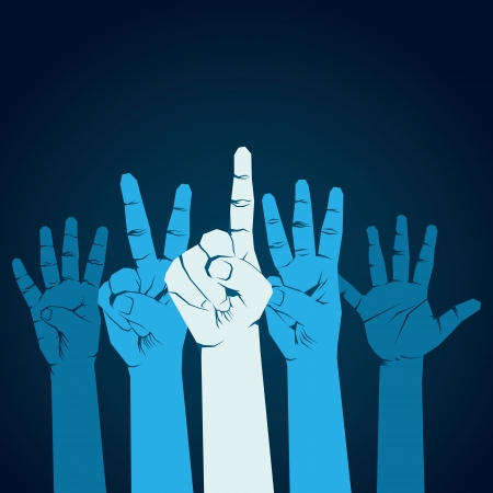 finger counting one to five background vector Ilustracja