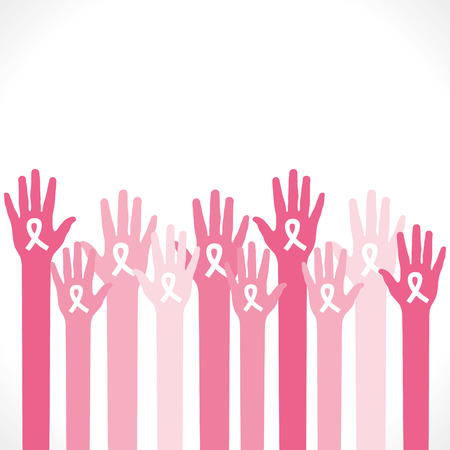 aids: aids symbol in hand to aware people background vector