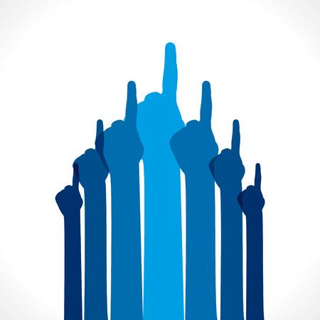 pointing up: dito mano rivolto verso l'alto background vector Vettoriali