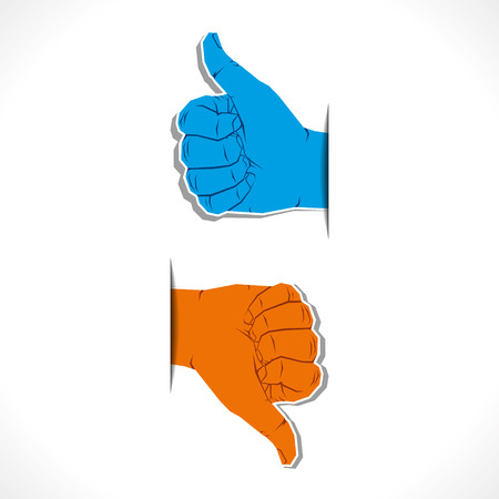 hand like and unlike symbol vector Vector