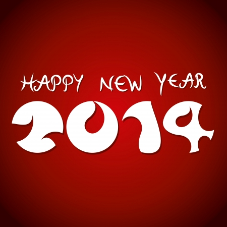 chinesse: happy new year 2014 background vector Illustration