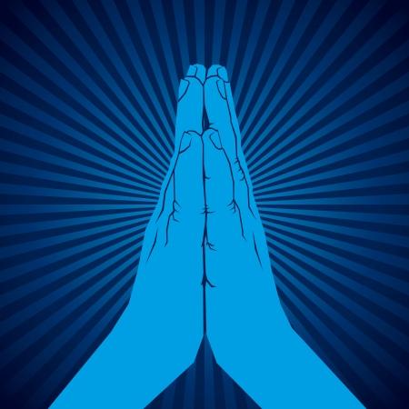 thankful: namaskar muestra de la mano de vectores