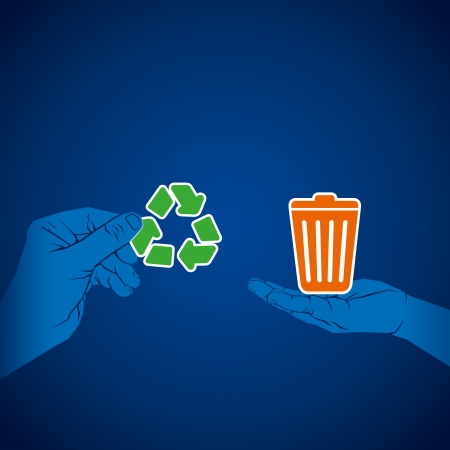 recycle waste product concept vector Stock Vector - 24474438