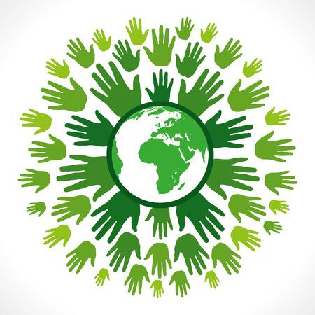 save earth concept vector Stock Vector - 24474464