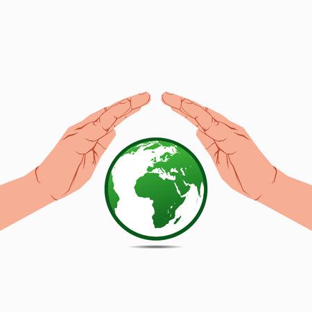 save earth concept vector Stock Vector - 24474474