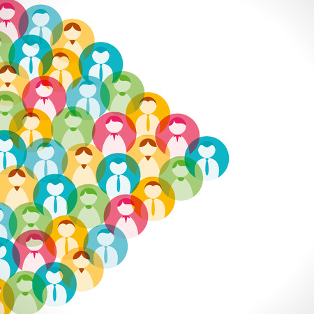 people icon: colorful people icon background vector Illustration