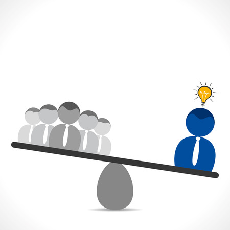 leadership concept, leader with new idea concept vector Vector