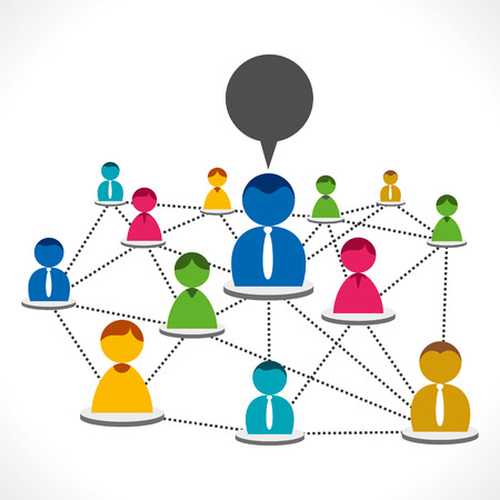 people network or social connection concept vector