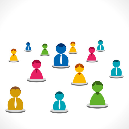 organizational chart: colorful people  Illustration